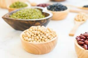 Voeding met eiwitten zoals bonen