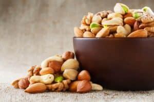 Noten, peulvruchten en soja voor het veraangenamen van de overgang