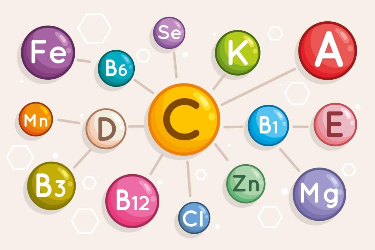 Verschillende soorten vitaminen en mineralen