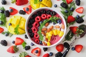 Regenboog eten en goede voedingsstoffen