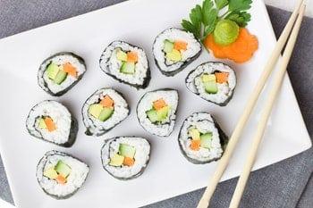 zeewier en vis jodium