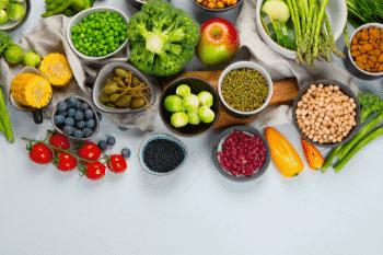 plantaardige voeding gezond met of zonder ondersteuning