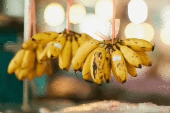 redelijk weinig kalium in bananen