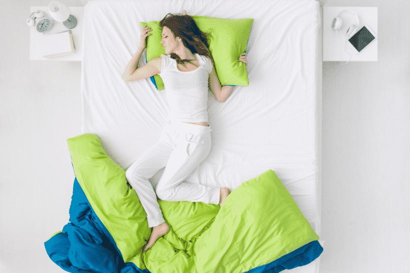 zweten tijdens het slapen